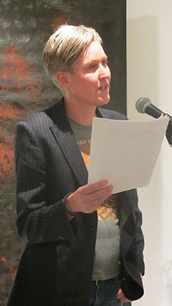 Gisele Leeb reading at the Elbow Room Prize 2016
